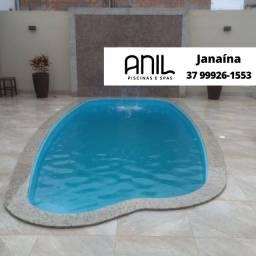 Título do anúncio: JA - Piscina oval de fibra  - Anil Piscinas - 5,80 x 2,68 x 1,35m