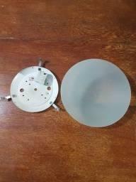 PLAFON EM VIDRO REDONDO - 01 LAMPADA.