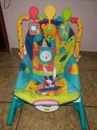 Cadeira de balanço para bebê vibratória e toca música