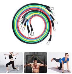 Incrível Conjunto 5 Faixas de Exercícios Empilháveis Para Todos os Tipos de Exercícios