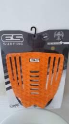 Deck surf marca ES - Elite Surfing peça inteira cor laranja