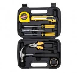 Kit ferramentas 9pçs ideal para uso doméstico, escritório e oficinas.