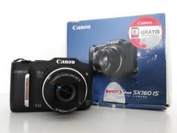Câmera Canon PowerShot SX160 IS - 16MP - Bem Conservada