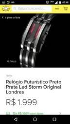 399f8586db3 Relógio masculino. Storm Futuristico preto prata led metal e  IGUAL O DA  foto