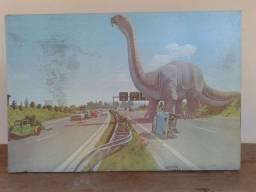 Quadro antigo dinossauro