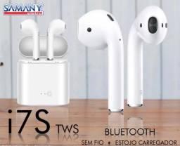 Fone de ouvido Bluetooth AirPods i7s Tws com case carregador