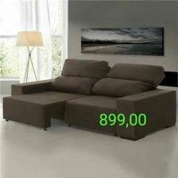 Miami sofá Retrátil reclinável connfort tbm p/ Escritório