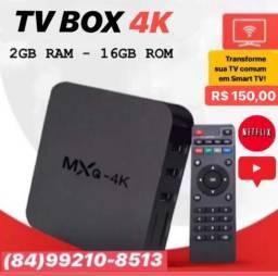 PROMOÇÃO TV BOX MXQ 4K - Único com garantia direto na loja