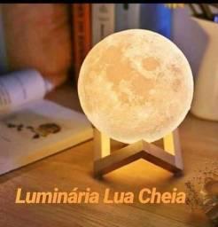 Luminária de Lua Cheia 3D Led