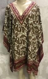 Bata seda indiana, tamanho M , manga morcego