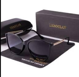 Óculos de sol polarizado e com proteção uv