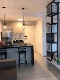 Apartamento com 1 dormitório para alugar, 40 m² por R$ 1.800,00/mês - Jardim Tarraf II - S