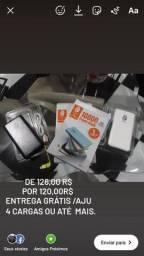 Power Bank 1000mah/ SOM via Bluetooth /Fone s/fio Via bluetooth/Cadeado
