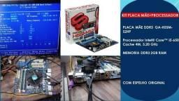 Kit core i5 placa mãe+proce+ memoria hd 750gb