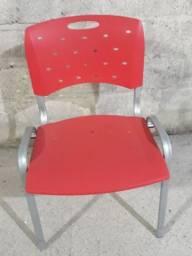 Cadeira Cavaletti Fixa Viva 35008 P - Base Cromada