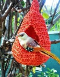Ninho de crochê pra pássaros