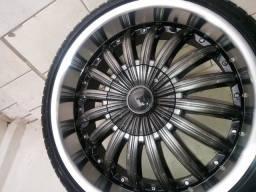 Jogo de rodas 20 Multifuros 5x100 e 5x120/Rodas zeradas.