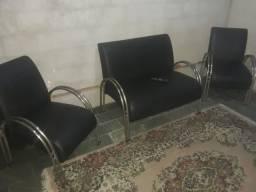 Conjunto sofá poltronas 4 lugares