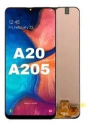 Display Completo / Tela Original Para Samsung A20 A205 Amoled - Instalação Expressa!!
