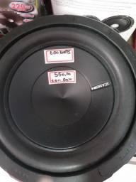 """Sub woofer HERTZ de 8"""" polegadas 600 watts com box novo com garantia instalado"""