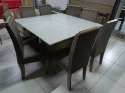 Mesa de janta 8 cadeiras entrega e montagem imediata grátis