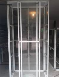 Vitrine de Vidro com Alumínio 1.30x2.62