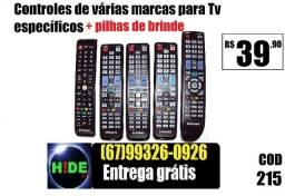 Controle Controle pra TV e receptores (entrega grátis)pra TV e receptores (entrega grátis)