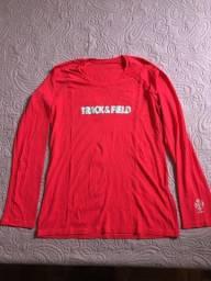 Camiseta feminina manga longa UV Tech - Vermelha - Tamanho G