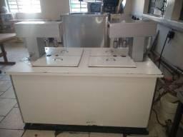 Máquinas para produção de sorvete, picolés .