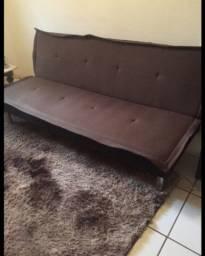 Sofa retrátil novo marrom