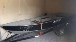 Barco de alumínio + Motor de popa yamaha 25HP 2t