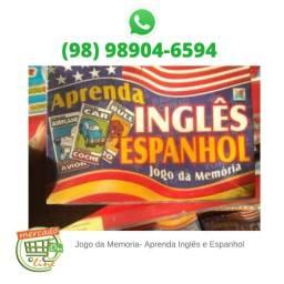 Jogo da Memoria- Aprenda Inglês e Espanhol