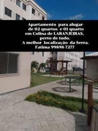 Apartamentos de 02 e de 01 quarto em colina de Laranjeiras