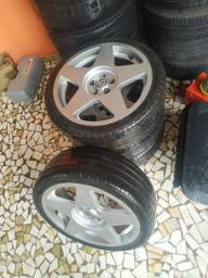 Rodas 17 tala 6 com pneus