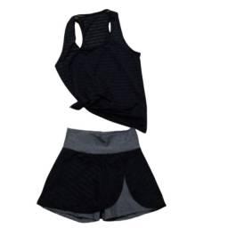 Conjunto Moda Fitness Short Saia + Regata
