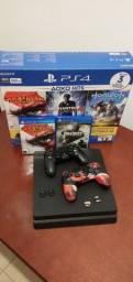 PlayStation 4 - PS4 - 2 Controles + 46 Jogos