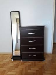 Cômoda 4 gavetas com espelho