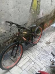 Bicicleta aro;24 caloi 18 machas completa,rodas aero,Pneus favorável. ..
