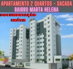 Apartamento Marta Helena com suíte, documentação grátis