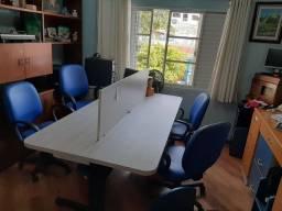 Mesa reunião  com cadeiras