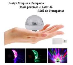 Mini luz de discoteca usb led, luz portátil para festa de família