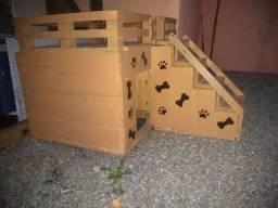 Casinha pra cachorro ou gatos 2 quartos