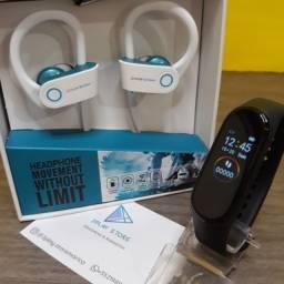 Smartband M4 Pulseira Fitness e Fone de Ouvido Bluetooth Android e IOS
