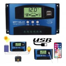 Controlador de carga mppt 40 am c/display Kaual