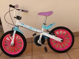 Bicicleta aro 16 frozen (tem as rodinhas)