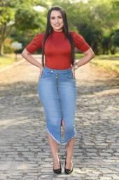 Saia Jeans Feminina - Atacado