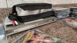Dvd Philips Dvp3020 Com Mais De 400 Discos Usado