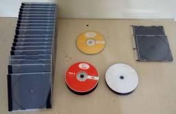 Estojos para DVD, CD e DVD-R e CD-R Tudo NOVO