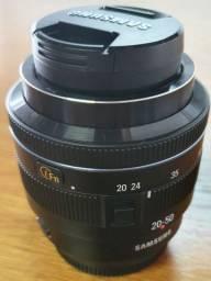 Lente Samsung NX 20 50 mm E Adaptador NX Mount