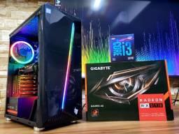 Promoção Pc Gamer Intel Core I3 9100F Rx 570 8GB Ram 240 Ssd